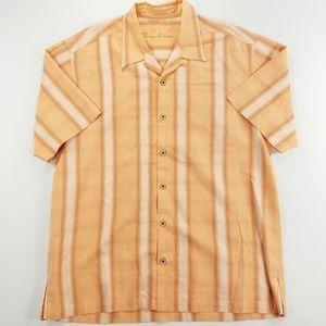 Tommy Bahama 100% Silk Short Sleeve Dress Shirt